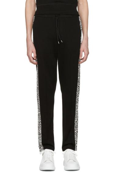 Alexander McQueen - Black Leopard Lounge Pants