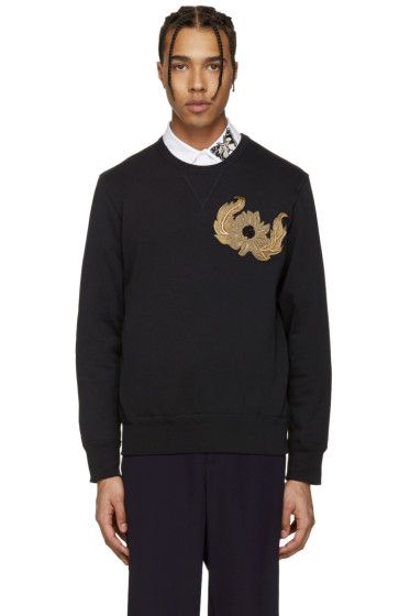 Alexander McQueen - Black Embroidered Pullover