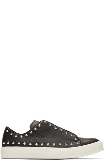 Alexander McQueen - Black Studded Low Cut Sneakers