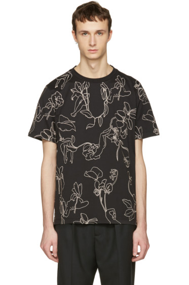 Paul Smith - Black Floral T-Shirt