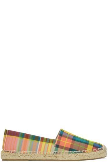 Paul Smith - Multicolor Check Sunny Espadrilles