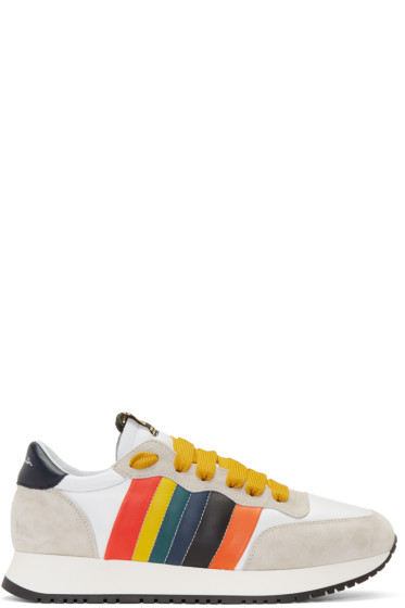 Paul Smith - Grey & White Stitch Sneakers