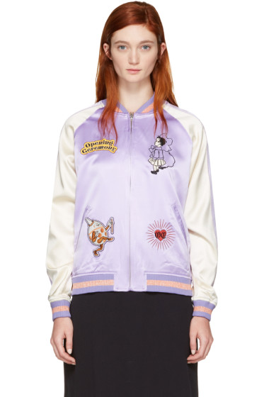 Opening Ceremony - Reversible Purple Fairytale Bomber Jacket