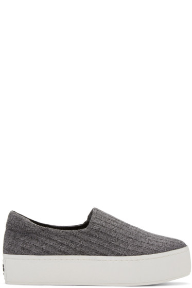 Opening Ceremony - Grey Platform Cici Slip-On Sneakers