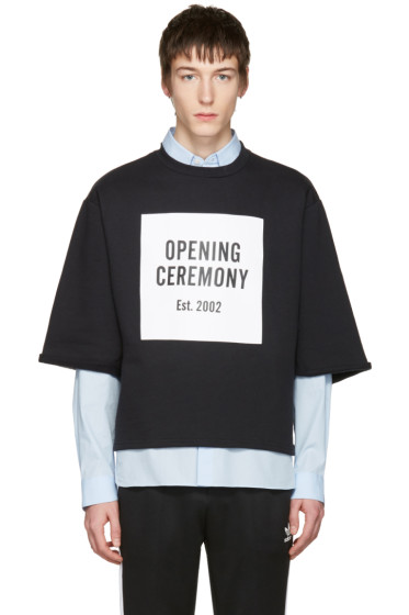 Opening Ceremony - Black Logo Cut-Off T-Shirt
