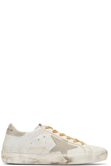 Golden Goose - White Crash Superstar Sneakers