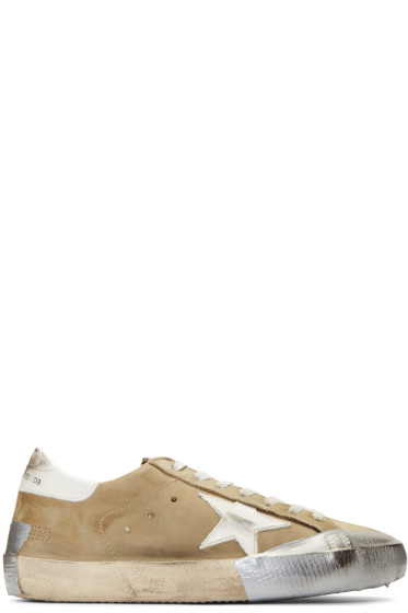 Golden Goose - Green Nubuck Superstar Sneakers