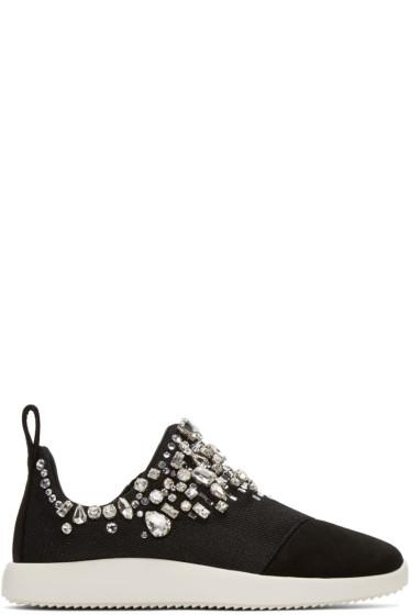 Giuseppe Zanotti - Black Singleg Slip-On Sneakers