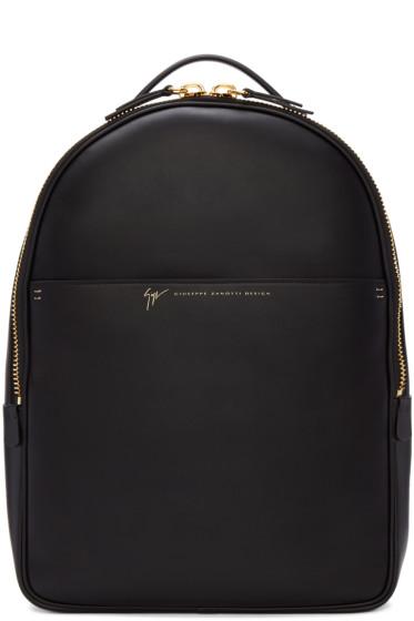 Giuseppe Zanotti - Black Leather Calby Backpack
