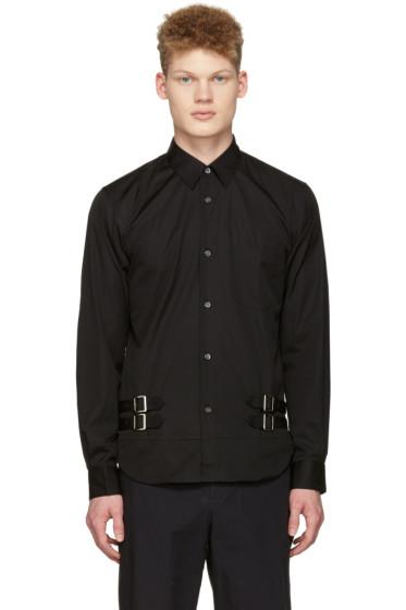 Comme des Garçons Shirt - ブラック ダブル ベルト シャツ