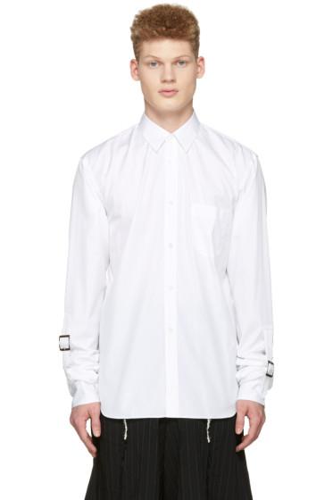 Comme des Garçons Shirt - ホワイト アジャスタブル スリーブ シャツ