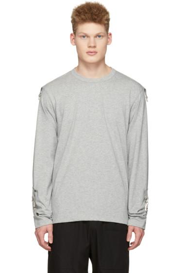 Comme des Garçons Shirt - グレー アジャスタブル スリーブ T シャツ