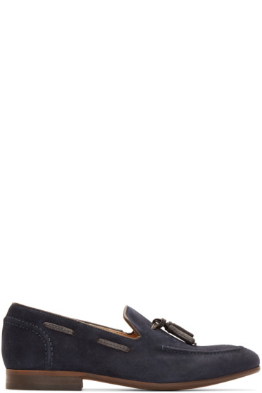 H by Hudson - Navy Suede Pierre Loafers