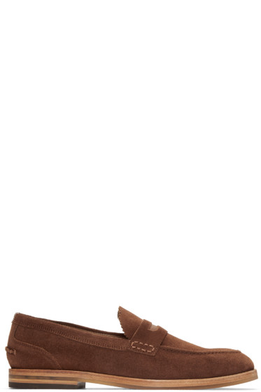 H by Hudson - Brown Suede Romney Loafers