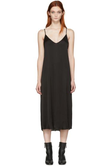 Raquel Allegra - Black Liquid Satin Slip Dress
