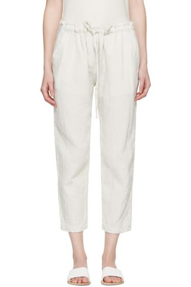 Raquel Allegra - White Drawstring Lounge Pants