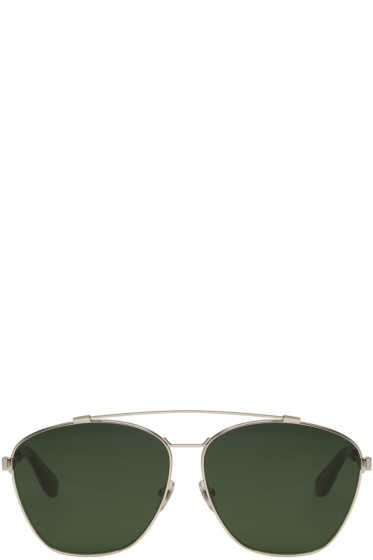 Givenchy - Silver Aviator Sunglasses