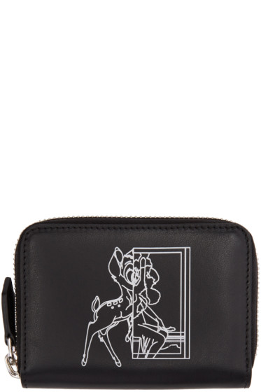 Givenchy - Black Mini Bambi Zip Wallet