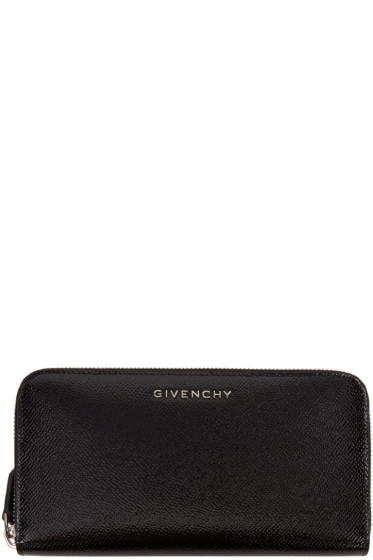 Givenchy - Black Patent Long Pandora Wallet