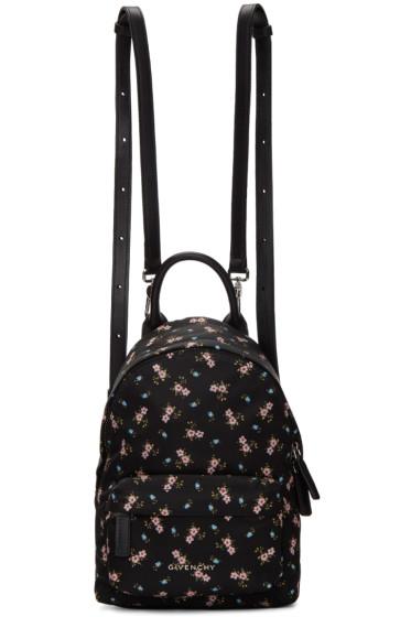 Givenchy - Black Nano Hibiscus Backpack
