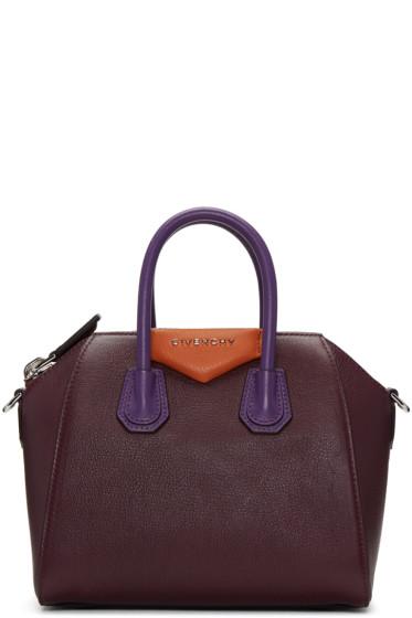 Givenchy - Burgundy Mini Antigona Bag