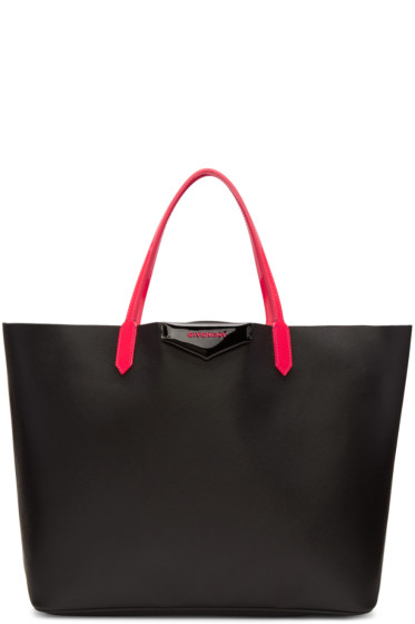 Givenchy - Black & Pink Large Tote Bag