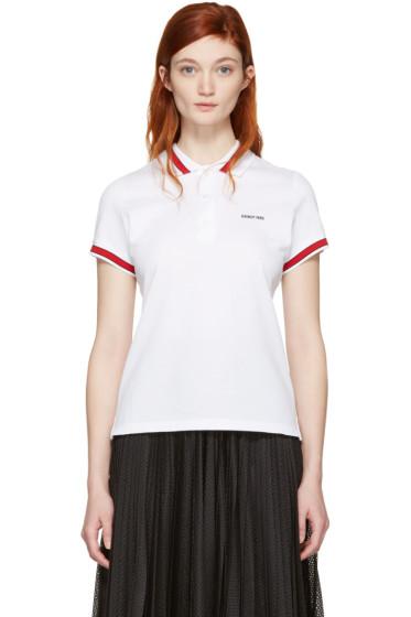 Givenchy - White Logo Polo
