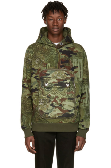 Givenchy - Green Camo Detachable Pocket Hoodie