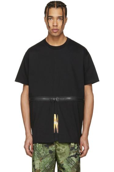 Givenchy - Black Waist Zip T-Shirt