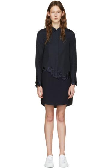 3.1 Phillip Lim - Navy Embroidered Shirt Dress