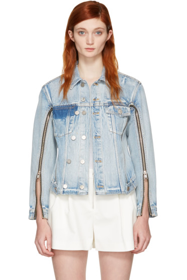 3.1 Phillip Lim - Indigo Denim Zip Jacket