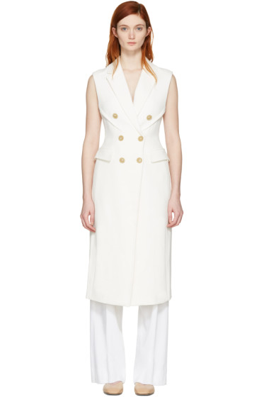 3.1 Phillip Lim - White Long Sculpted Vest