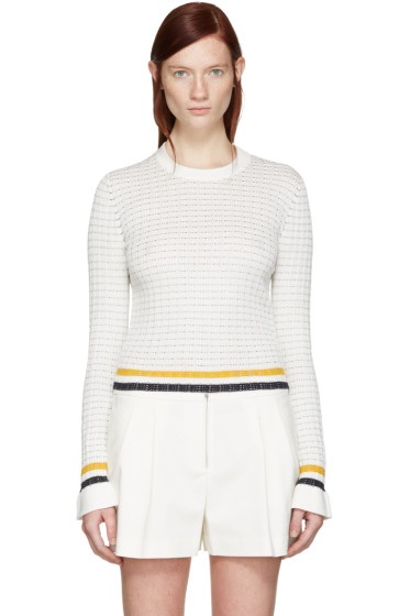 3.1 Phillip Lim - White Knit Pullover