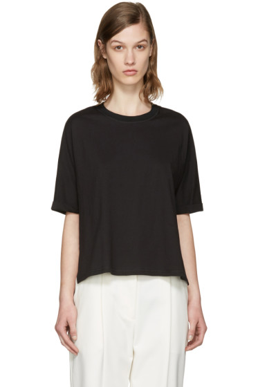 3.1 Phillip Lim - Black Silk Combo T-Shirt