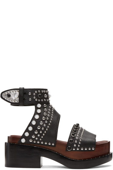 3.1 Phillip Lim - Black Nashville Platform Sandals