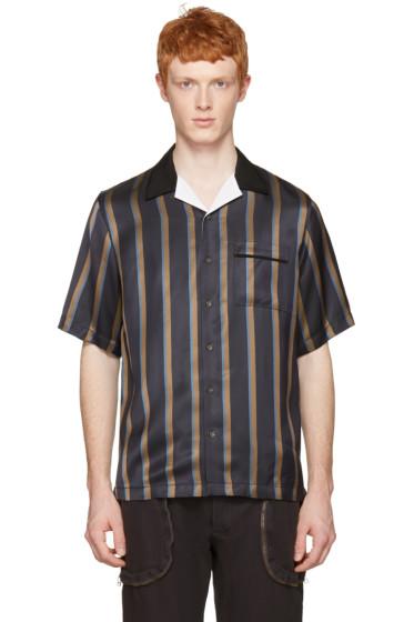 3.1 Phillip Lim - ネイビー ストライプ パジャマ シャツ