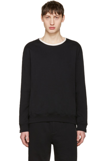 3.1 Phillip Lim - Black Zip Sleeve Roll Edge Pullover