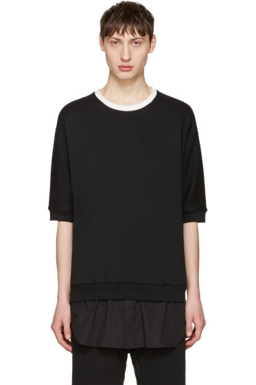 3.1 Phillip Lim - Black Short Sleeve Pullover