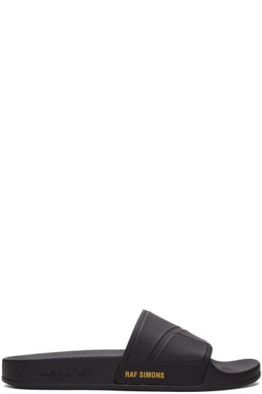 Raf Simons - Black adidas Originals Edition Adilette Slide Sandals