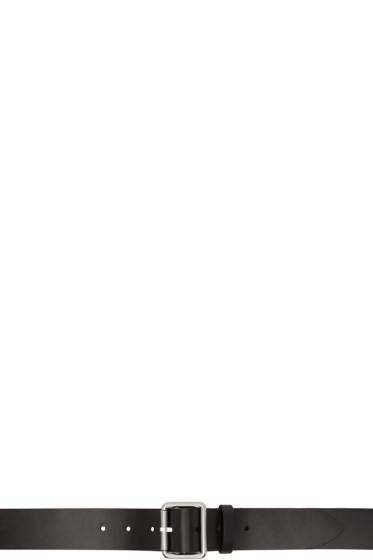 Raf Simons - ブラック レザー ベルト