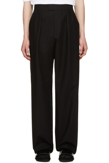 Raf Simons - Black Buckle Trousers