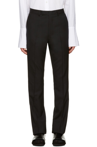 Raf Simons - Black Wool Flared Trousers