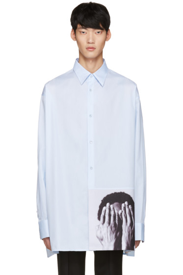 Raf Simons - Blue Robert Mapplethorpe Edition Alistair Oversized Shirt