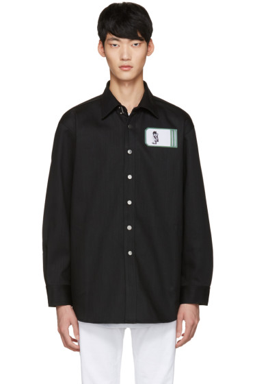 Raf Simons - Black Robert Mapplethorpe Edition Self Portrait Oversized Shirt