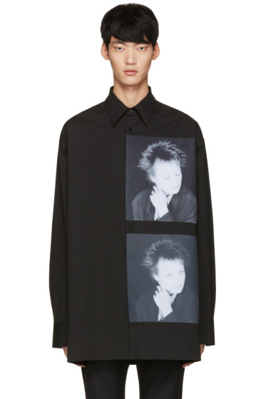Raf Simons - Black Robert Mapplethorpe Edition Laurie Oversized Shirt