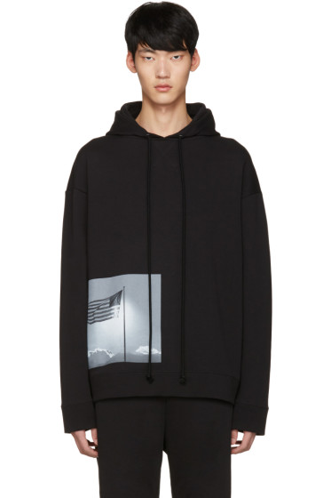 Raf Simons - Black Robert Mapplethorpe Edition American Flag Hoodie