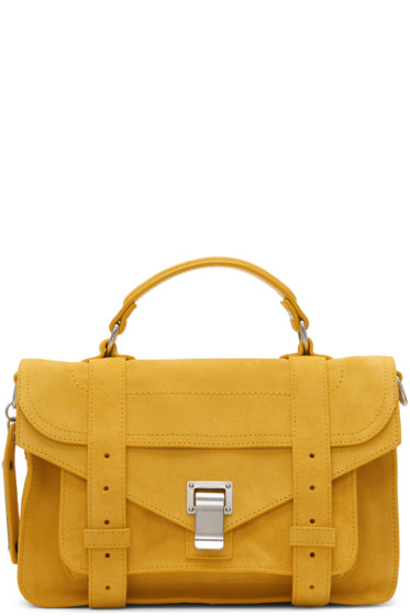 Proenza Schouler - Orange Suede Tiny PS1 Satchel