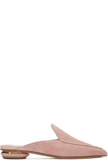 Nicholas Kirkwood - SSENSE 限定 ピンク ベヤ スリッポン ローファー