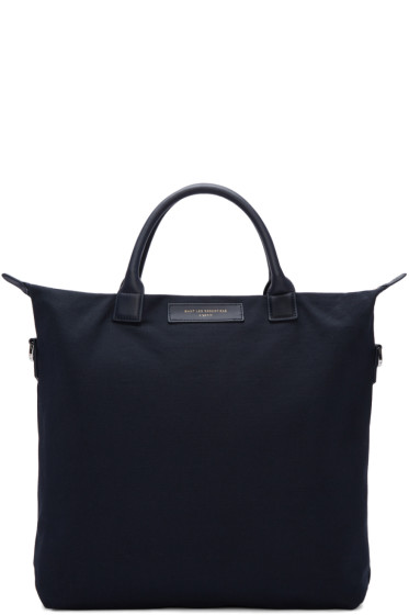 Want Les Essentiels - Navy Canvas O'Hare Tote