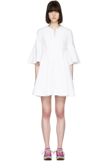 Carven - White Flare Sleeves Dress